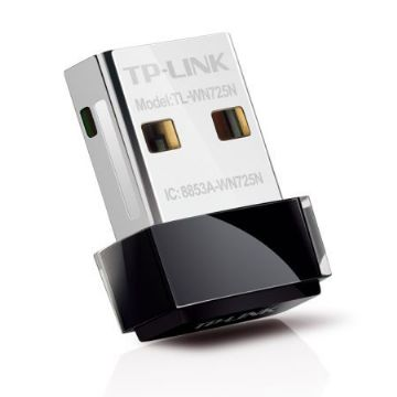 TP-LINK (TL-WN725N V2.2) 150Mbps Wireless N Nano USB Adapter Wi-Fi